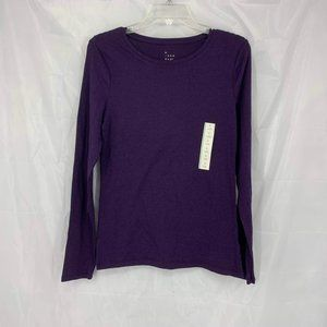 A New Day Size M Purple Long Sleeve Shirt